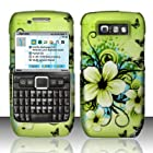 Cell Accessories For Less (TM) For Nokia E71 (StraightTalk) Rubberized Design Cover - Hawaiian Flowers + Bundle (Stylus & Micro Cleaning Cloth) - By TheTargetBuys