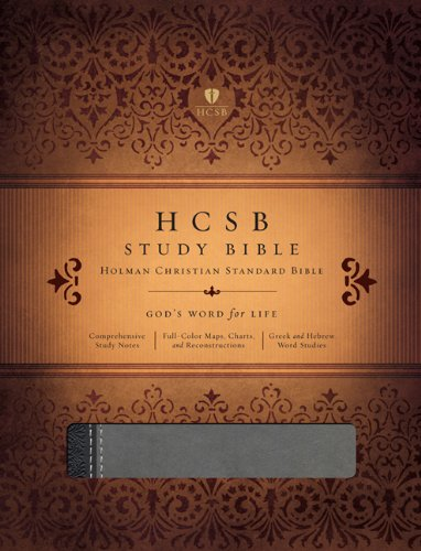 HCSB Study Bible, Black/Gray Duotone Simulated Leather