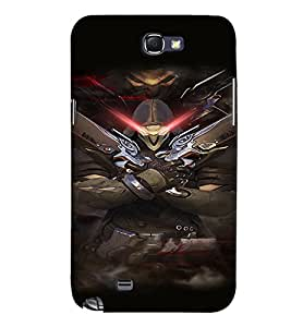 PRINTVISA Abstract Warrior Case Cover for Samsung Galaxy Note N7000