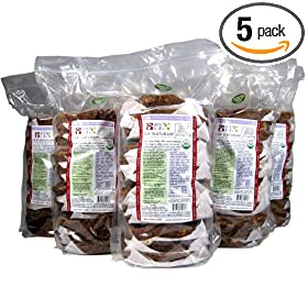 Paw Naturaw Diet Grass Fed Organic Bison Patties in Plastic Bag (Pack of 5)