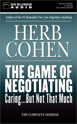 The Game of Negotiating Caring...But Not That Much