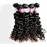 100g Curly Wave 100% Virgin Brazilian Bundle Hair Remy Human Hair Weft Weave Extensions