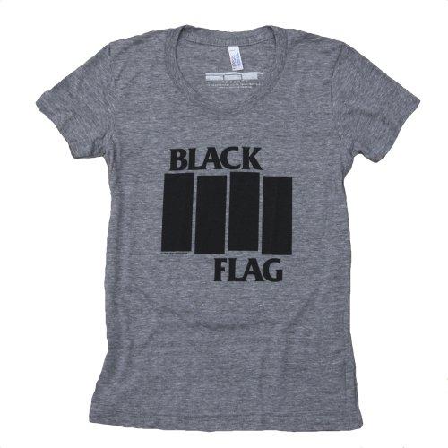 Black Flag Bars And Logo American Apparel Girls T-Shirt (Medium)