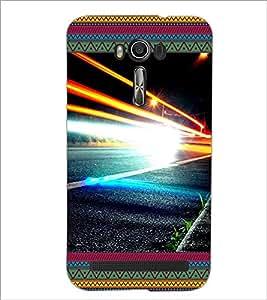 PrintDhaba Flamming Hand D-4643 Back Case Cover for ASUS ZENFONE 2 LASER ZE550KL (Multi-Coloured)