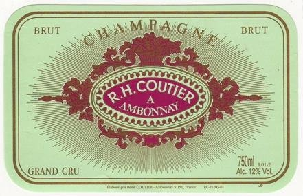 Nv Coutier Brut Tradition Grand Cru Champagne 750 Ml