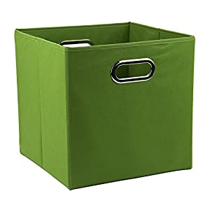 12 inch solid nonwoven large foldable storage cube green. Black Bedroom Furniture Sets. Home Design Ideas