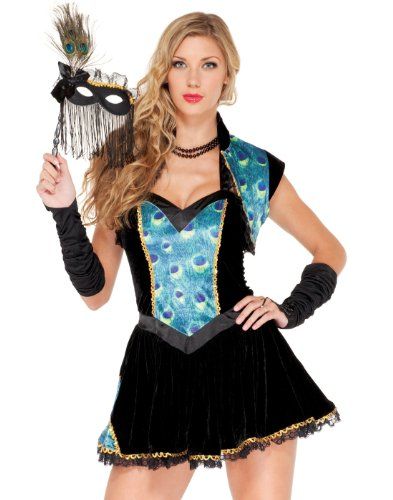 Forplay Women's Peacock Masquerade Adult Sized Costumes