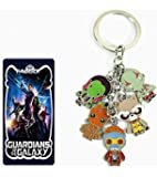 "4.5"" Guardians of the Galaxy Groot Toy 5 Pendants Key Chain Keyrings"