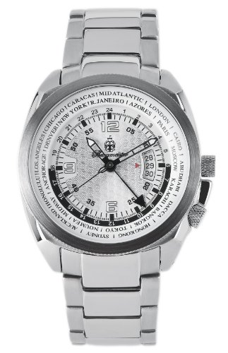 Burgmeister Stockholm Bm503-181 Gents Quartz Analogue Wristwatch  Stainless Steel Bracelet Silver Dial Date 2Nd Time Zone