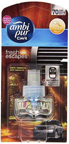 Ambi Pur Car Ricarica Deodorante per Auto, Anti Tabacco, 7 ml