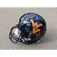 2013 West Virginia Team Signed Autographed Full Size Helmet Authentic Certified Coa