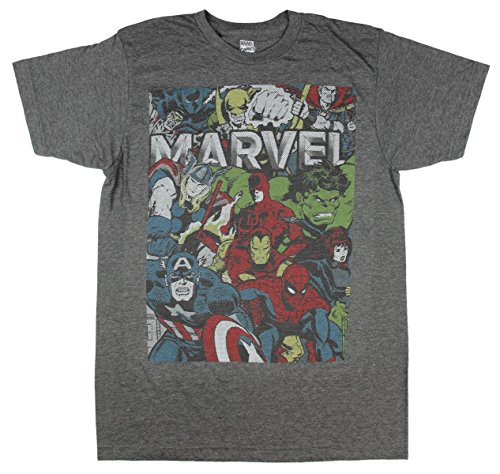 Marvel-Comics-Group-Photo-Avenges-Daredevil-X-Men-Graphic-T-Shirt