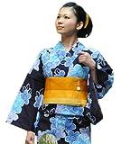 (カンサイヤマモト)KANSAIYAMAMOTO浴衣綿麻古典柄大人系紺地×青花