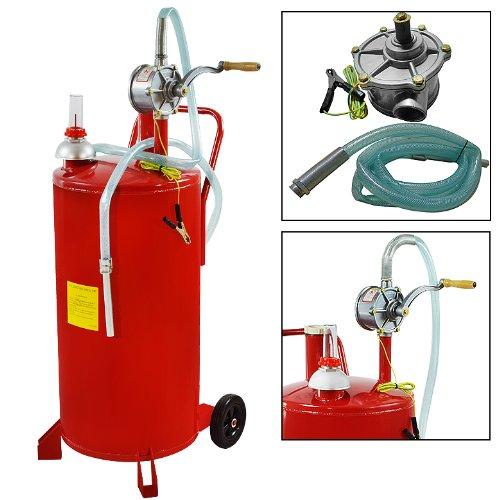 Arksen Brand 25 Gallon Gas Caddy Tank Drum Gasoline Fluid Diesel W/ Pump