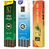 Zed Black Premium Incense Sticks Combo Of Attar Rajnigandha, Mathan Gold 100 & Attar Phool