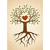 Tree with heart and roots family reunion invite Cards