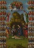 The High Quality Polyster Canvas Of Oil Painting 'Lorenzo Costa-The Adoration Of The Shepherds With Angels,about 1499' ,size: 16x22 Inch / 41x57 Cm ,this Replica Art DecorativeCanvas Prints Is Fit For Home Theater Artwork And Home Artwork And Gifts