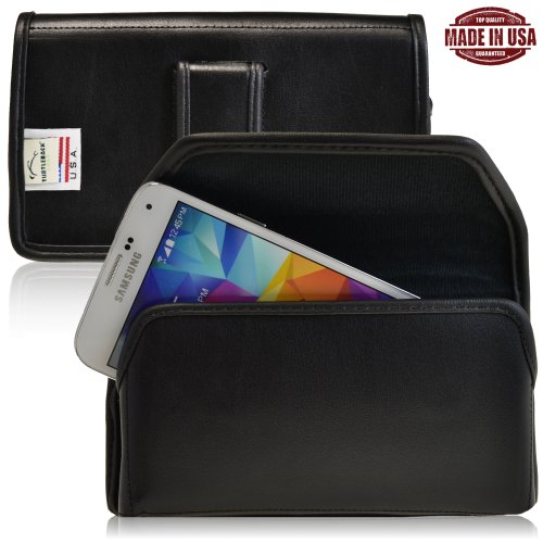 Turtleback Samsung Galaxy S5 V Genuine Leather Holster Case Pouch With Metal Belt Clip - Made In Usa