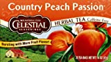 Celestial Seasonings Ctry Peach Passn Herbal Tea 20-Count (Pack of 6)