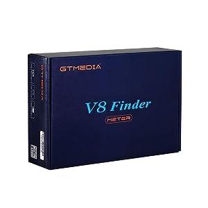 Leepesx Freesat 1080P GT Media V8 Finder Meter DVB-S2 Digital Satellite Finder High Definition Satfinder (Color: Multicolor, Tamaño: US Plug)