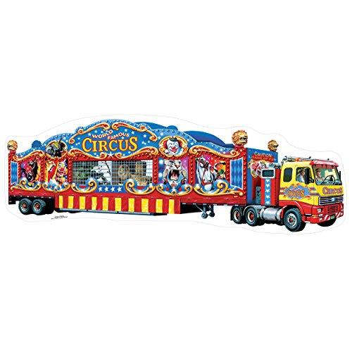 T.S. Shure Circus Truck Shaped Jumbo Floor Puzzle