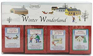 White Coffee Winter Wonderland 4-Holiday Flavors Ground Coffee Gift Sets (Pack of 2)