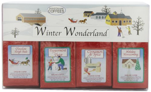 White Coffee Winter Wonderland 4-Holiday Flavors