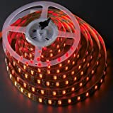 LEDwholesalers 5M 16 ft Reel Flexible LED Ribbon 300 LEDs Red Strip With 3M Tape, 2026RD