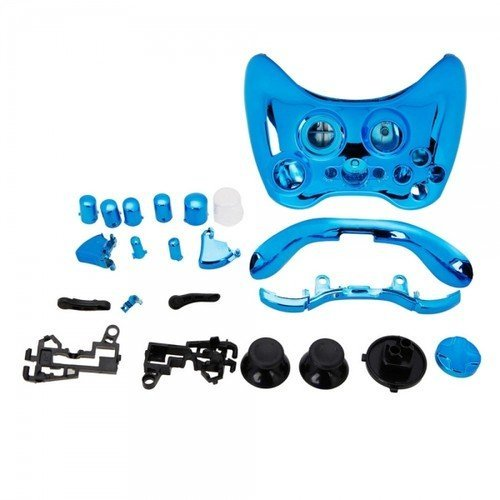 Yhg Replacement Parts For Chrome Xbox 360 Controller Shell [Blue]