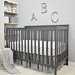 "American Baby Company 3 Piece Crib Bedding Set, Gray, 28"" x 52"""
