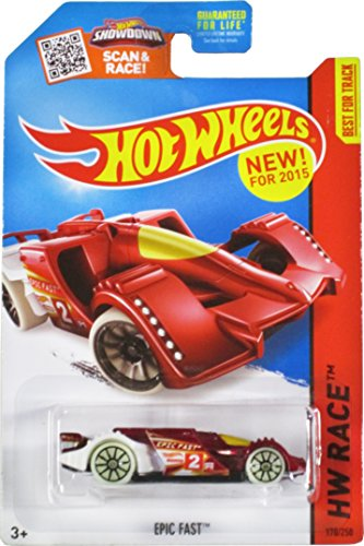 Hot Wheels, 2015 HW Race, Epic Fast [Metallic Red] Die-Cast Vehicle #170/250