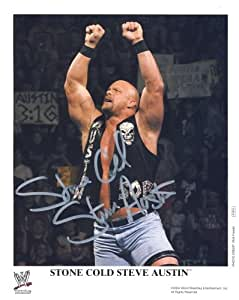 Stone Cold Steve Austin - Autographed WWE Wrestling 8x10 Promo Photo