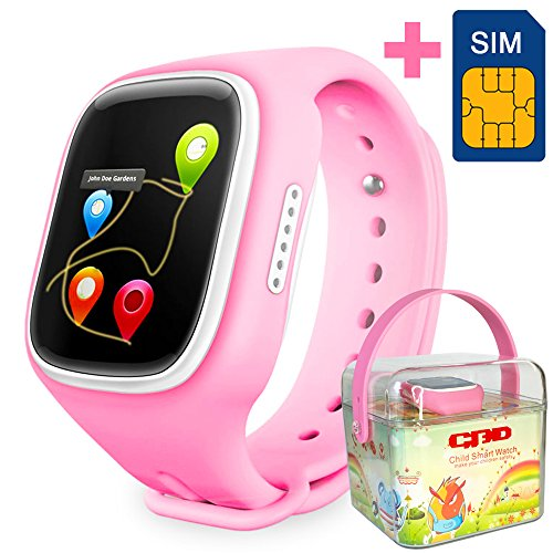 GBD-2016-Newest-144inch-Touch-Screen-GPS-Tracker-Kids-Smartwatch-Wrist-Sim-Watch-Phone-Anti-lost-SOS-Gprs-Children-Bracelet-Parent-Control-By-Apple-Iphone-IOS-Android-Smartphone--Pink