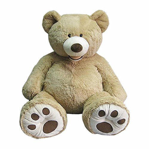 Hugfun 53 inch (134cm) Plush Sitting Bear - Blonde (3+ Years) by Hugfun (Hugfun Bear compare prices)