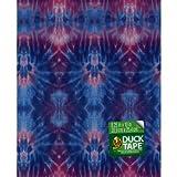 """Shurtech DTSS-94 Duck Tape Single Sheets, 10"""" Length x 8-83/128"""" Width, Totally Tie Dye Print"""