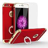 iphone 6 Plus iphone 6s Plus ケース, スタンドリング付き 360°専用 ケース 耐衝撃 3パーツ式 アイフォン6s iPhone6 ケース カメラ保護 アイフォンケース