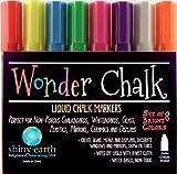 Wonder Chalk Liquid Chalk Marker Pens 8-pack of Bright Neon Colors; 6mm Chisel Tip