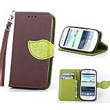 S3 Mini,S3 Mini Brown Case,Canica Leather Case Cover For Galaxy S3 Mini,S3 Mini Leather Case,Unique Design Flip Wallet Style Leather Case Cover For Samsung Galaxy S3 Mini I8190