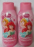 Disney Princess Shampoo & Conditioner 2 in 1 14 fl. oz. Royal Berry (2-Pack)
