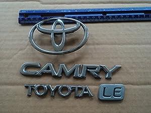 96 toyota camry le rear trunk chrome emblem logo badge set of 4 d. Black Bedroom Furniture Sets. Home Design Ideas