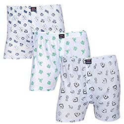 Feed Up Mens Cotton Hosiery Boxers Pack of 3