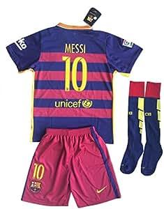 Amazon.com : Barcelona Messi #10 Soccer Jersey Set (Shirt + Shorts