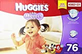 Huggies Little Movers Diapers, Size 6, 76 Count
