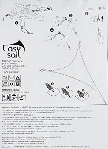Easy Sail © ESTC400 - Vela de sombra para patio, rouge cerise