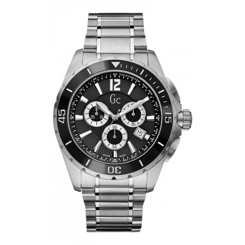 Gc Sport Chic Black Chronograph Mens Watch X76005G2S