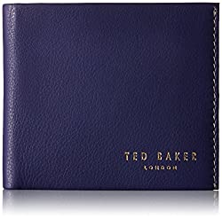 Ted Baker Men's Wallet and Card Gift Set, Purple, One Size