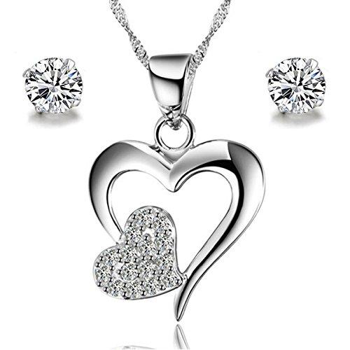 gilind-collana-argento-925-cuore-e-orecchini-set-per-le-donne-pacco-regalo-double-heart
