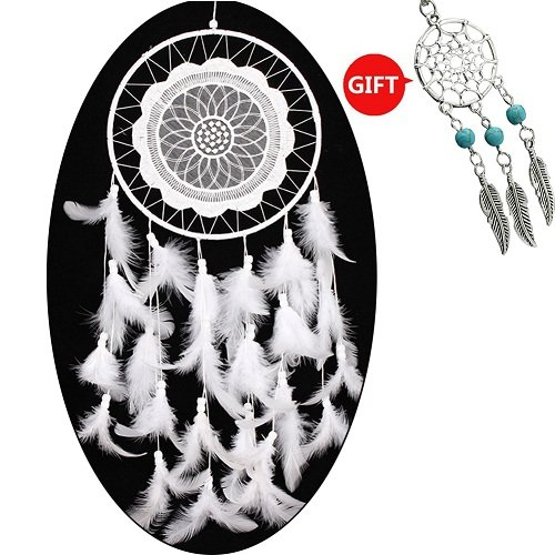 YYAO® Handmade Traditional Original ~ Dream Catcher (White Laces) 8