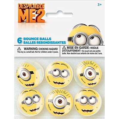 Imagine a roomful of minions bouncing around, up to their mischievous ways! Our Despicable Me Bounce Balls are a fun addition to party favor bags. Each ball features the smiling yellow face of an adorable minion that kids will love. Balls come in pac...