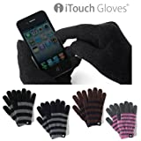 iTouch Gloves アイタッチグローブ 2012-2013 ストライプ (S, ブラウンXネイビー)